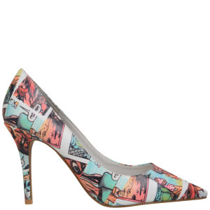 Jeffrey Campbell Women's Darling Cartoon Leather Stilettos - Cartoon Print