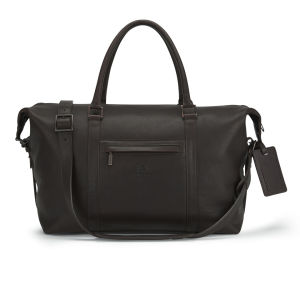 Knutsford Men's Leather Holdall Bag - Dark Brown