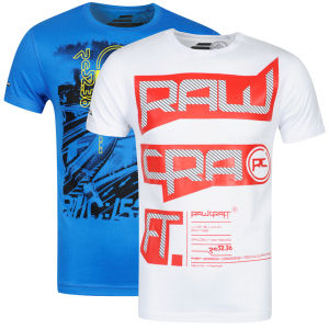 Rawcraft Men's Supra & Razor 2-Pack T-Shirts - White/Blue