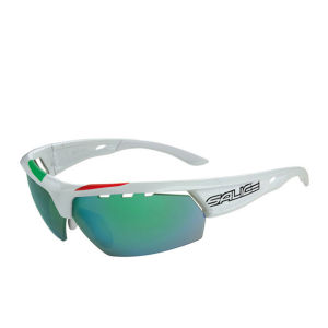 Salice 005 ITA Sports Sunglasses - White/Mirror Lens