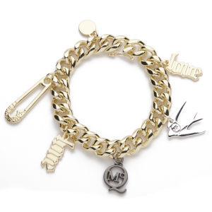 McQ Alexander McQueen Charm Bracelet - Light Shiny Gold
