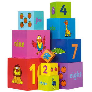 Tidlo Wooden Stacking Rainbow Cubes (1 - 10)