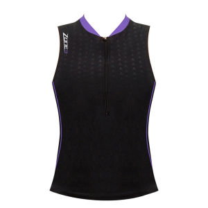 Zone3 Women's Aquaflo Top - Black/Purple