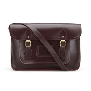 The Cambridge Satchel Company 14 Inch Smooth Saddle Leather Satchel - Cordovan
