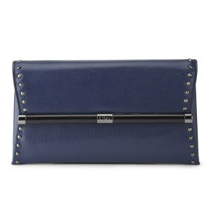 Diane von Furstenberg Women's Stud Detail Envelope Clutch Bag - Navy