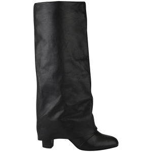 See by Chloe Women's Fold Over Leather Boots - Black