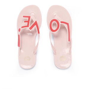 Mel Women's Love City Flip Flops - Nude