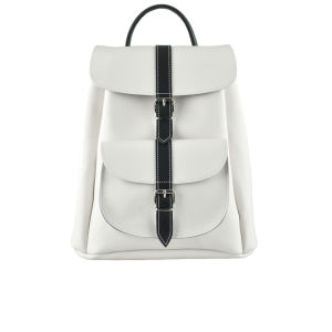 Grafea Piano Small Leather Rucksack - White/Black