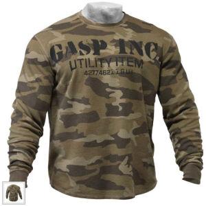 GASP Thermal Gym Sweater - Camo Print
