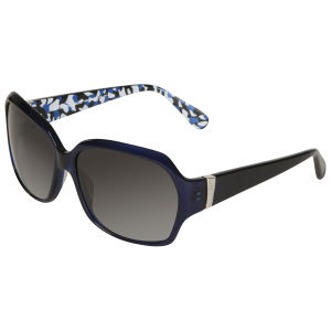 Diane von Furstenberg Patterned Arm Detail Sunglasses  - Royal