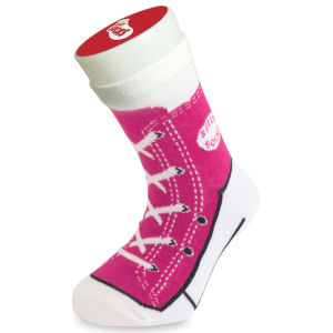 Silly Socks Kids' Baseball Boot - Pink - UK Size 1-4