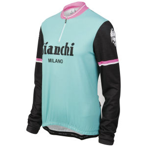 Bianchi Roccella Celebrative Long Sleeve Jersey - Blue