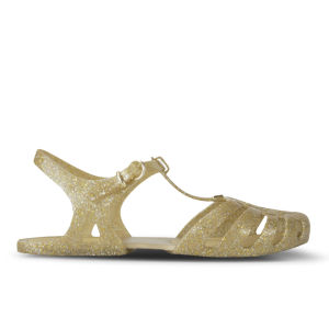 Melissa Women's Aranha Hits 11 Jelly Sandals - Gold Glitter
