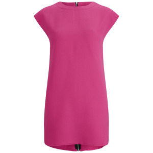 Neon Rose Women's Zip Shift Dress - Pink