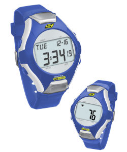 Skechers Wrist Band Watch & Heart Rate Monitor - Blue