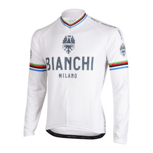 Bianchi Men's Leggenda Long Sleeve Full Zip Jersey - White