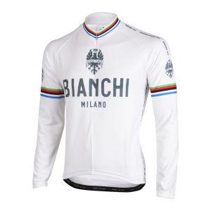 Bianchi Men's Leggenda Long Sleeve Full Zip Jersey - White