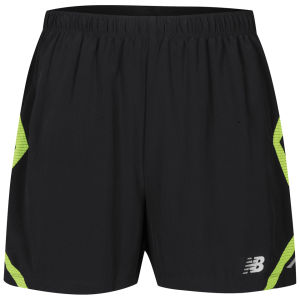 New Balance Men's 5 Inch Shorts - Black/Green