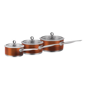 Morphy Richards Accents 3 Piece Pan Set - Copper