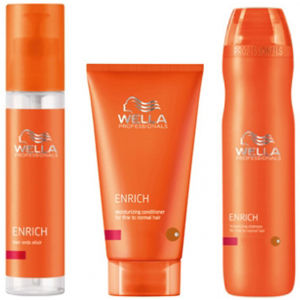 Wella Professionals Enrich Volumising Trio for Fine to Normal Hair- Shampoo, Conditioner & Elixir