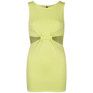 Influence Women's Cut Out Twisted Front Dress - Lime