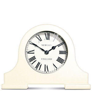 Desk Mantel Clock - Linen White