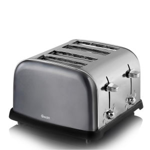 Swan Graph 4 Slice Toaster - Metallic