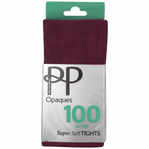 Pretty Polly Women's Soft Opaque Tights - Wine