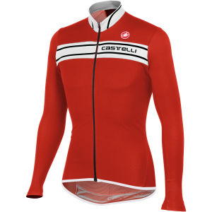 Castelli Prologo 3 Long Sleeve Jersey - Red/White