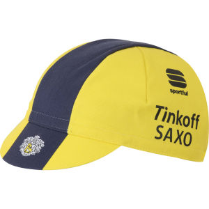 Tinkoff Saxo Team Replica Cycling Cap - Yellow/Blue