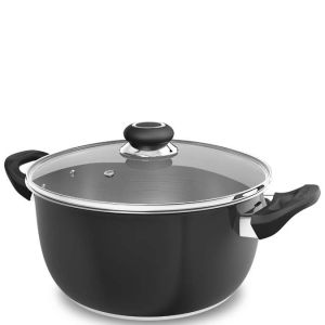 Morphy Richards Equip 24cm Stainless Steel Casserole Pot - Black