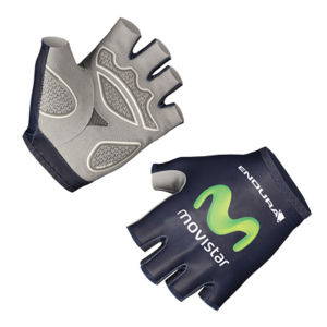Movistar Team Replica Cycling Gloves - Blue 2014