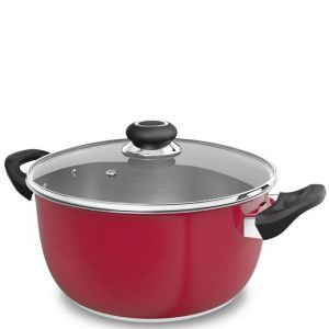 Morphy Richards Equip 24cm Stainless Steel Casserole Pot - Red