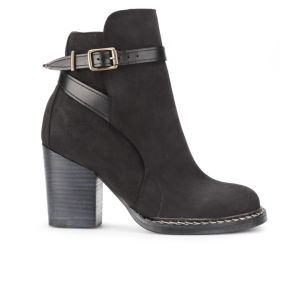 Purified Women's Petra 2 Leather Heeled Ankle Boots - Black