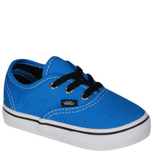 Vans Authentic Toddlers' Canvas Trainers - Brilliant Blue/True White