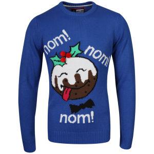 Christmas Branding Nomnom Knitted Jumper - Ocean