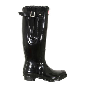 Hunter Women's Original Adjustable Gloss Wellies - Black