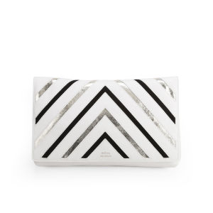 Matthew Williamson Women's Nomad Metallic Stripe Leather Clutch Bag - White