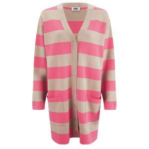 Sonia by Sonia Rykiel Women's Oversized Cardigan - Pink/Beige