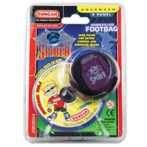 Duncan Spider Footbag - Black/Purple
