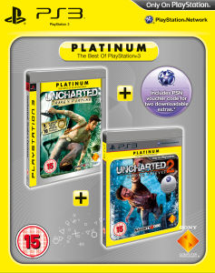 Uncharted: Drake's Fortune & Uncharted 2: Among Thieves (Platinum Twin Pack)