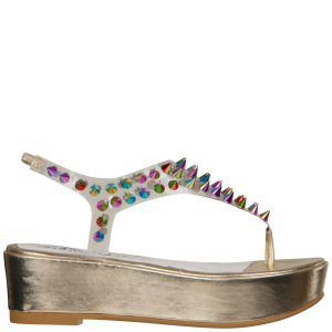 Jeffrey Campbell Women's Neptune Spiked Flatform Sandals - Gold