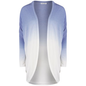 Moku Women's Dip Dye Knitted Cardigan - Blue/White