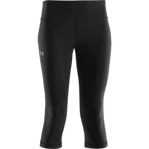 Under Armour Women's Authentic 17 Inch Capri - Black/Silver