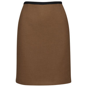 Orla Kiely Women's Wool Twill Skirt - Camel