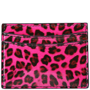 French Connection Animal Print Card Holder