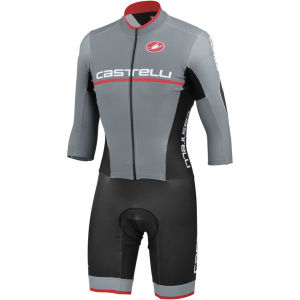 Castelli Cross Sanremo SpeedSuit - Grey/Black