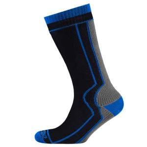 SealSkinz Thick Mid Length Socks - Black/Grey
