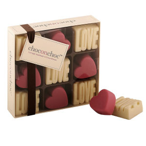 Love And Pink Heart Chocolates