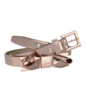 Ted Baker Women's Mirro Mirrored Leather Belt - Rose Gold